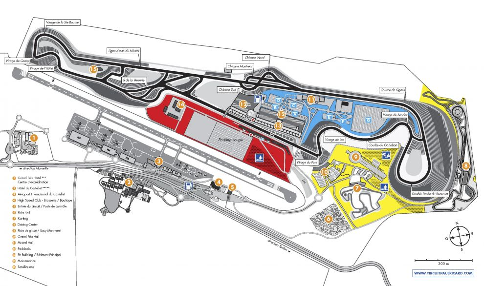Plan Circuit Paul Ricard
